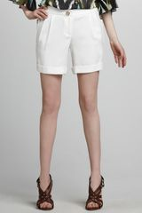 Milly Sofie Cuffed Walking Shorts - Lyst