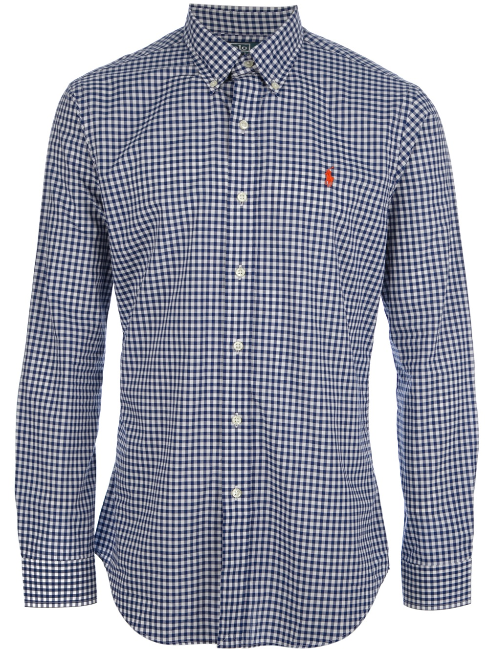 Polo Ralph Lauren Gingham Button Down Shirt In Blue For