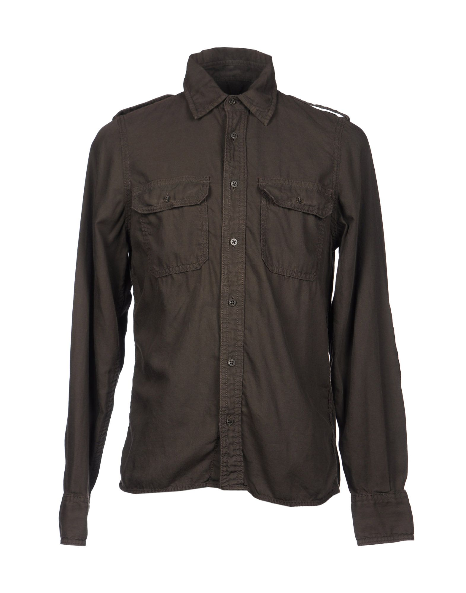 Robert friedman shirts in brown for men dark brown lyst for Black brown mens shirts
