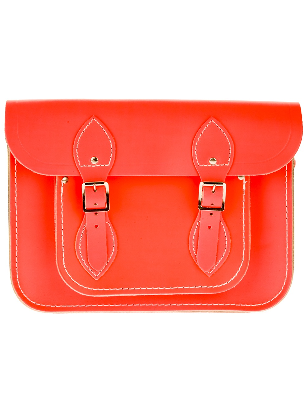 39e9514f4797a Lyst - Cambridge Satchel Company Fluoro 11 Inch Satchel in Orange