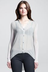 Helmut Helmut Lang Sheer Jerseysleeve Buttondown Shirt - Lyst