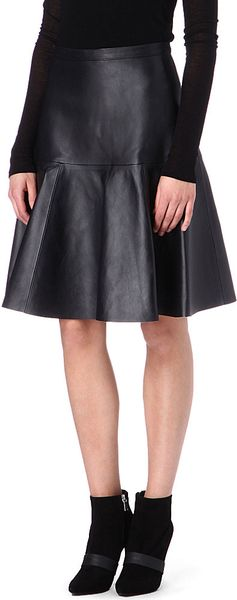 J Brand Torre Leather Skirt - Lyst