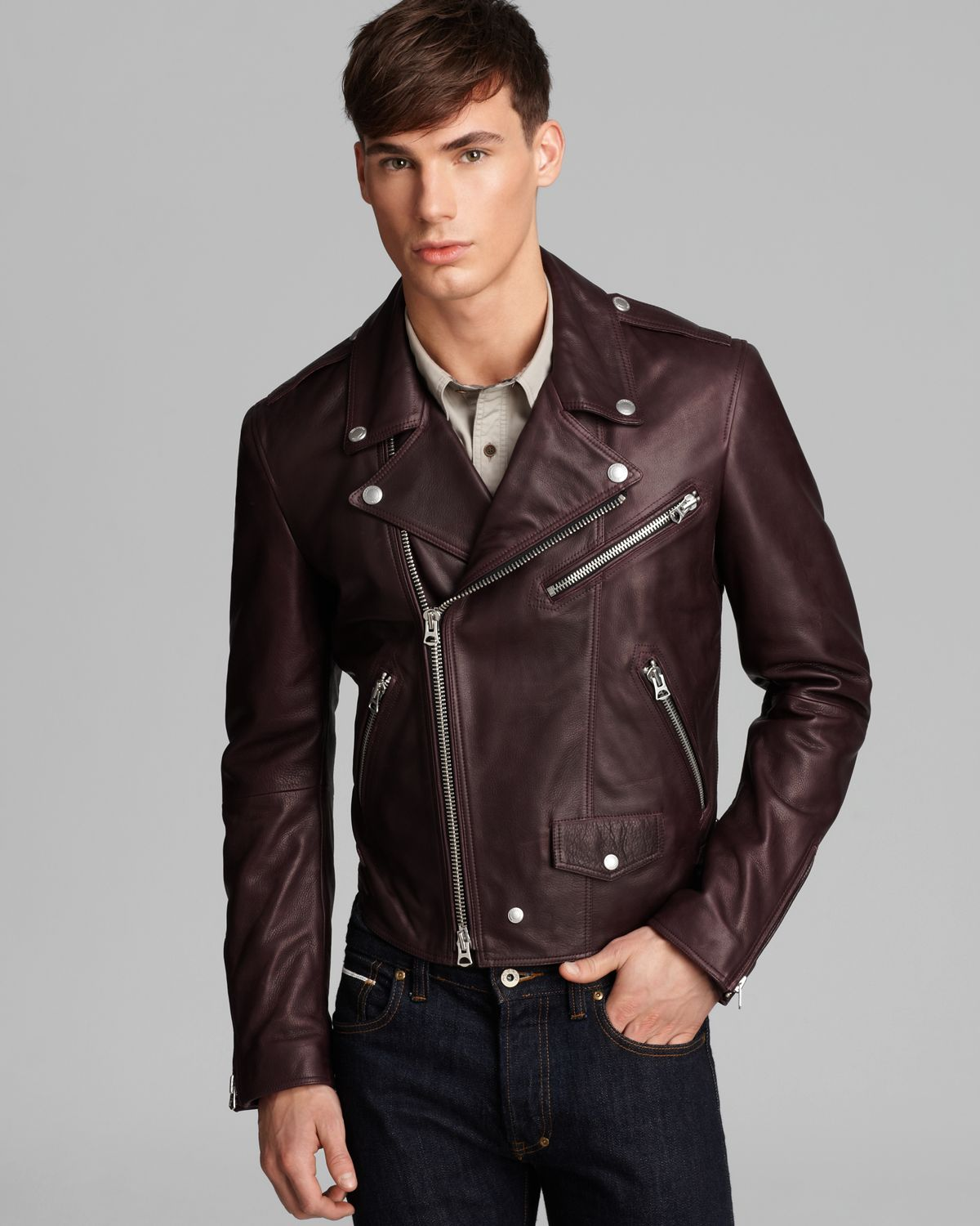 Lyst Burberry Brit Wroxton Leather Jacket In Brown For Men