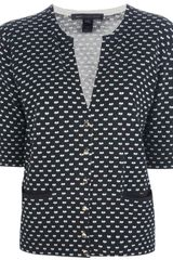 Marc By Marc Jacobs Heart Print Cardigan - Lyst