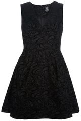 McQ by Alexander McQueen Flocked Paisley Dress - Lyst