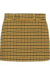 Miu Miu Dott Silk and Wool-blend Mini Skirt - Lyst
