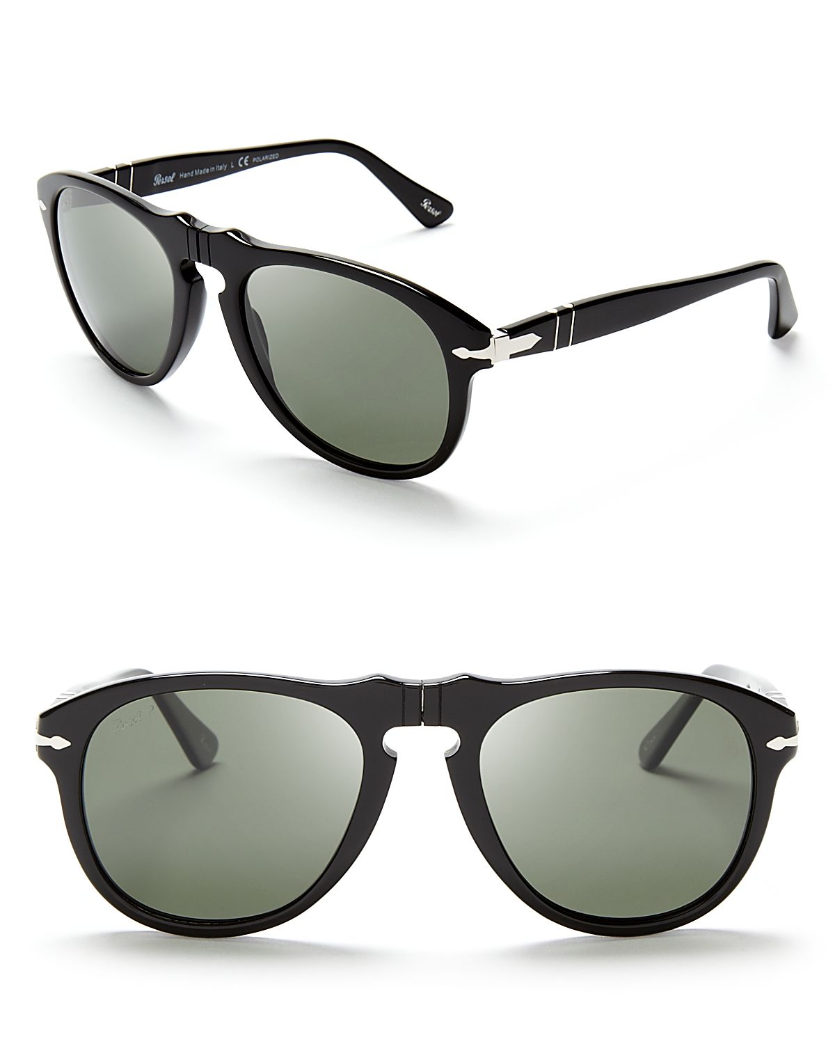 59483cc242 Lyst - Persol Suprema Polarized Retro Keyhole Sunglasses in Black ...