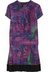 Proenza Schouler Pleated Printed Silk georgette Dress - Lyst
