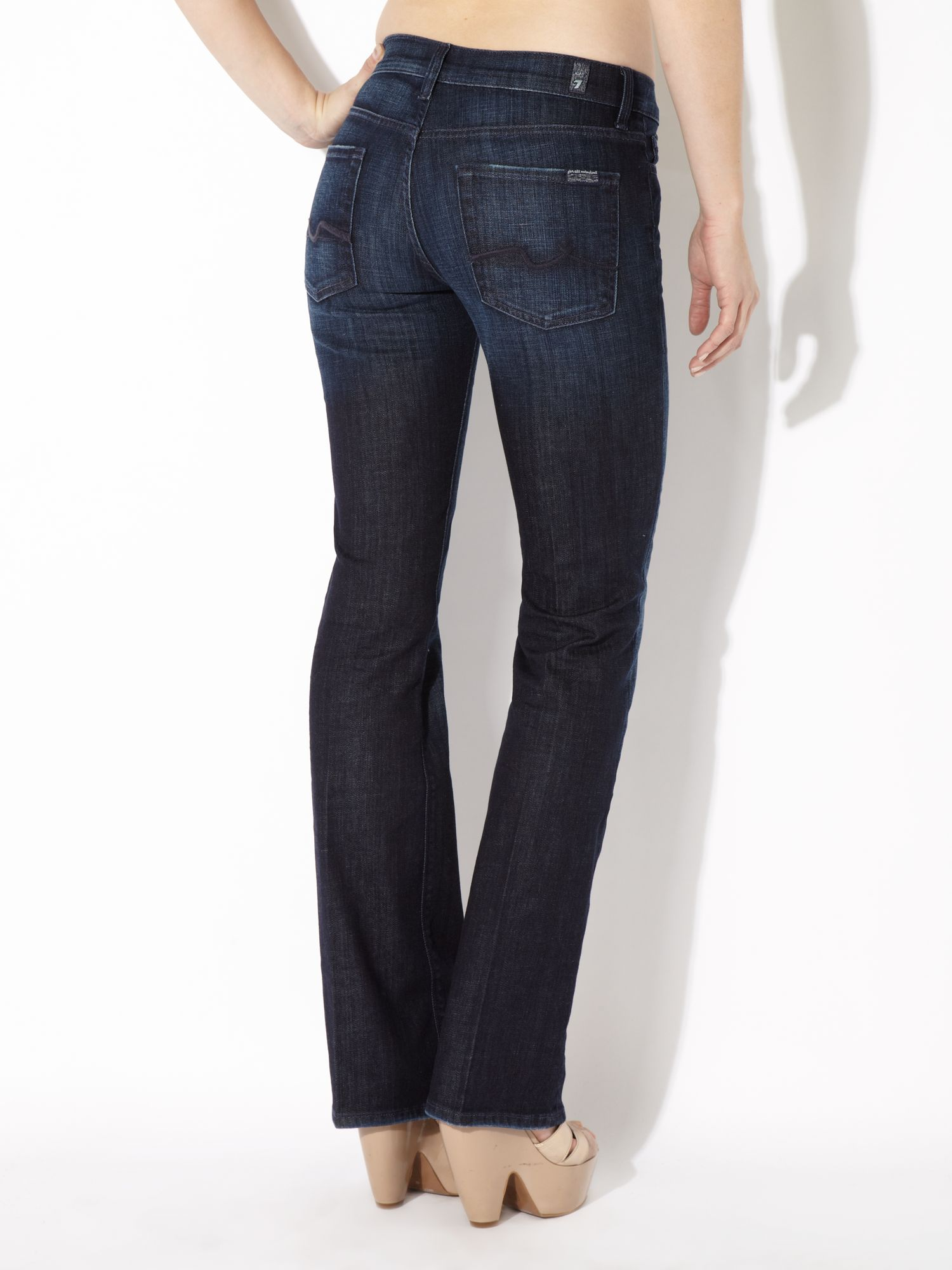 7 for all mankind High-waist Bootcut Jeans In Los Angeles Dark in ...