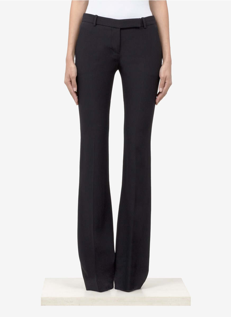 Alexander McQueen flared trousers Reliable Cheap Online Outlet Locations Cheap Price Professional Outlet Where Can You Find rcDIOh5