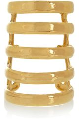 Aurelie Bidermann Esteban Goldplated Cuff - Lyst