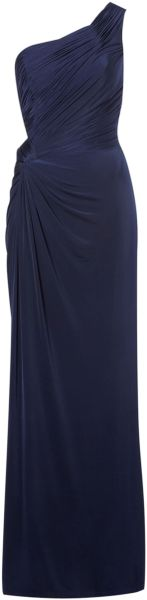 Biba Asymmetric One Shoulder Maxi Dress in Blue (Navy) - Lyst