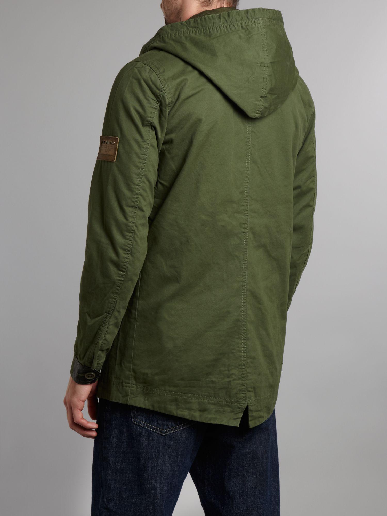 Diesel Parka Jacket in Green for Men | Lyst