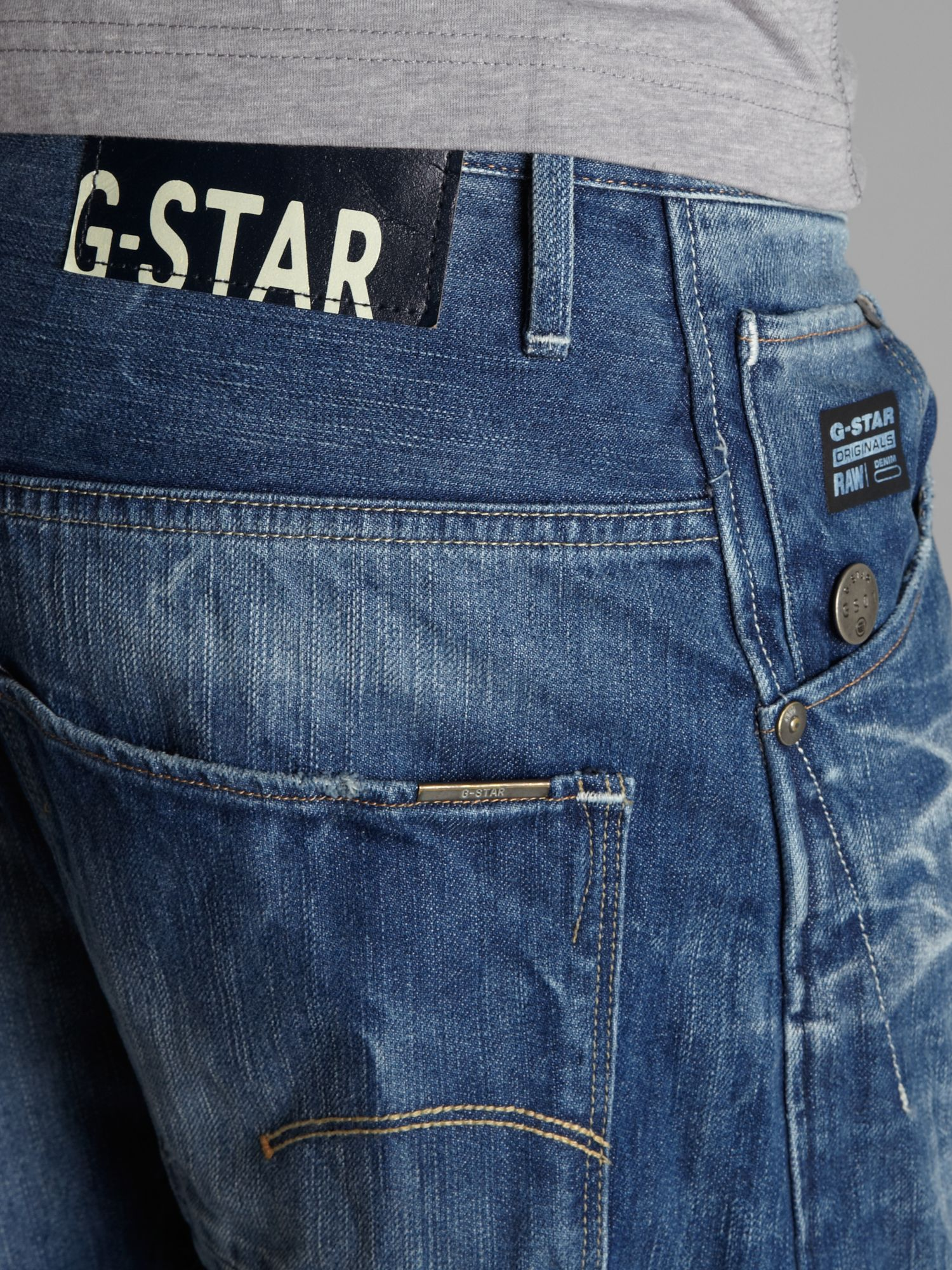 g star raw arc 3d loose tapered jeans in blue for men lyst. Black Bedroom Furniture Sets. Home Design Ideas