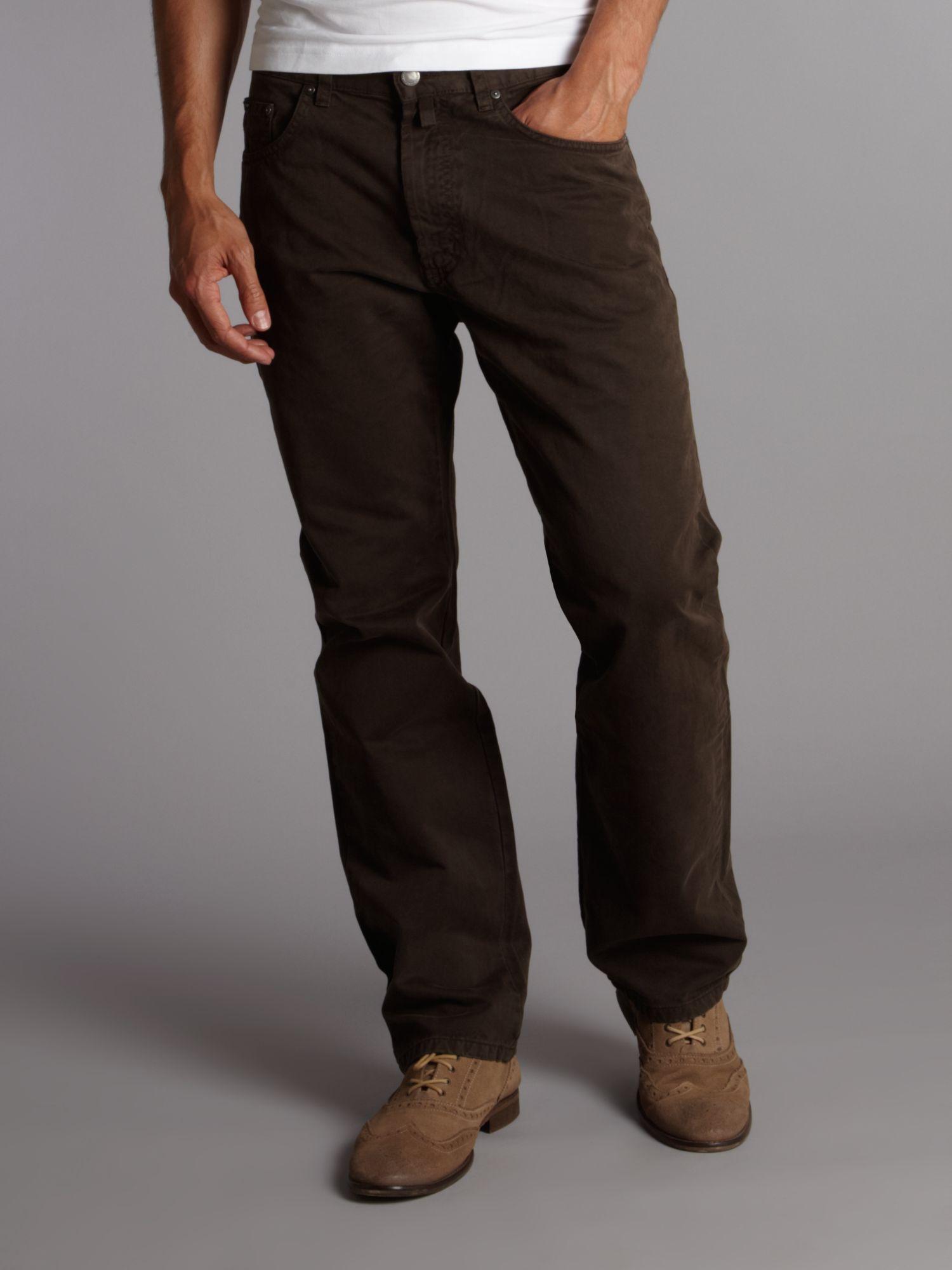 Gant Desert Twill Trousers in Brown for Men | Lyst