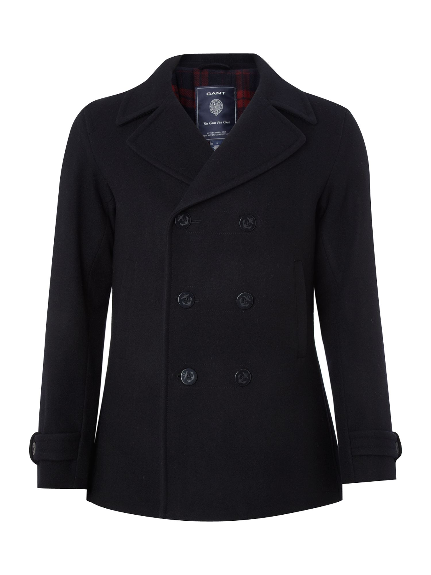 Gant Peacoat Jacket in Blue for Men | Lyst