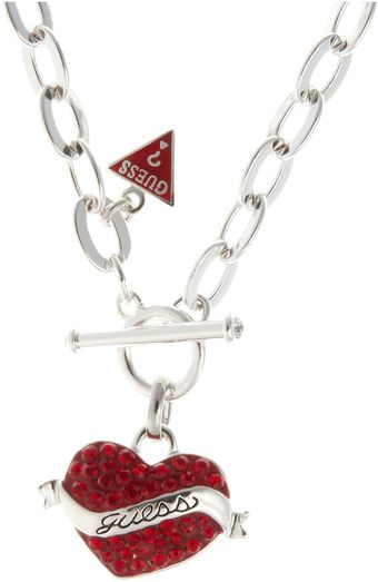 Guess Tattoo Heart Pendant - Lyst