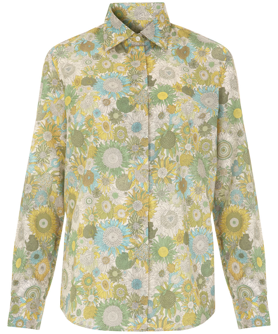 bbcd382172c Lyst - Liberty Yellow Small Susanna Print Shirt in Green for Men