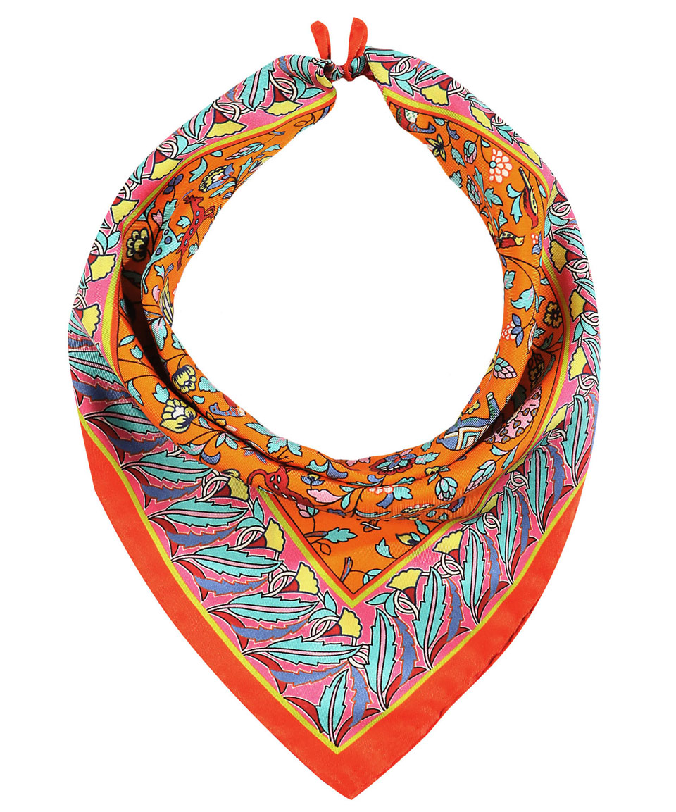 Lyst - Liberty Orange Imran Print Silk Neckerchief in Orange 283b8a217bf