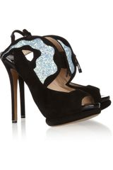 Nicholas Kirkwood Glitter finished Suede Sandals - Lyst