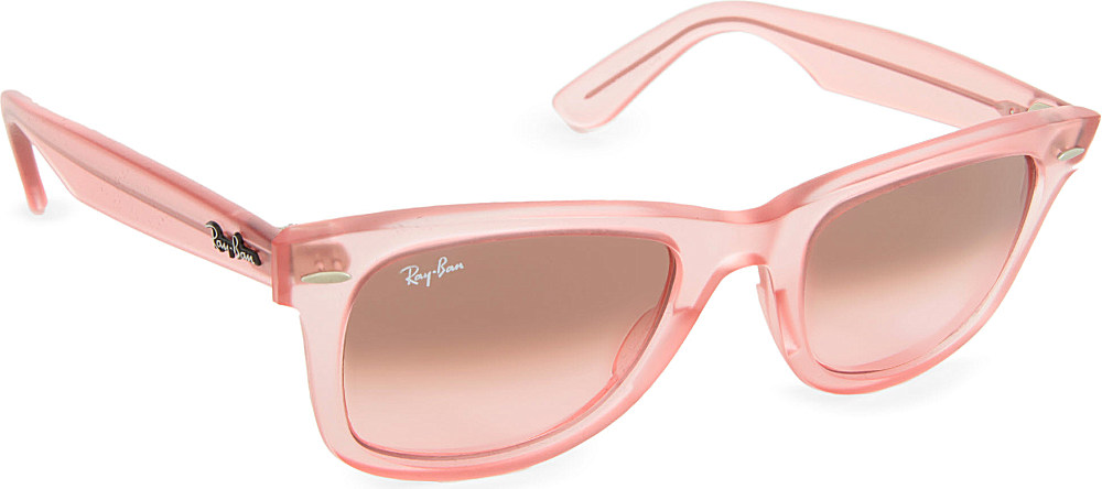 1ae3efa3b0e ... get ray ban demi gloss ice pop wayfarer sunglasses in pink lyst a5563  daf9a