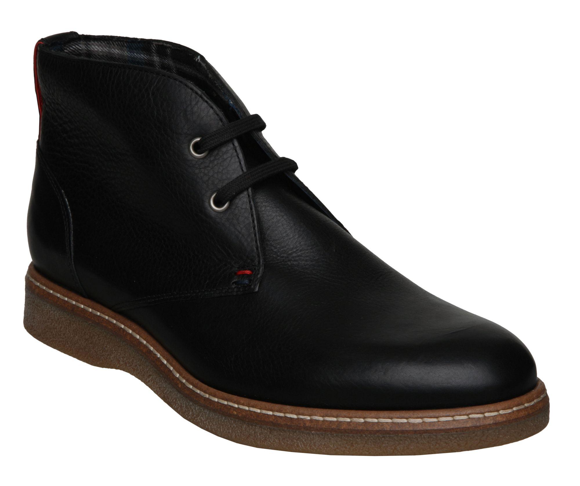 tommy hilfiger christopher 1a casual boots in black for men lyst. Black Bedroom Furniture Sets. Home Design Ideas