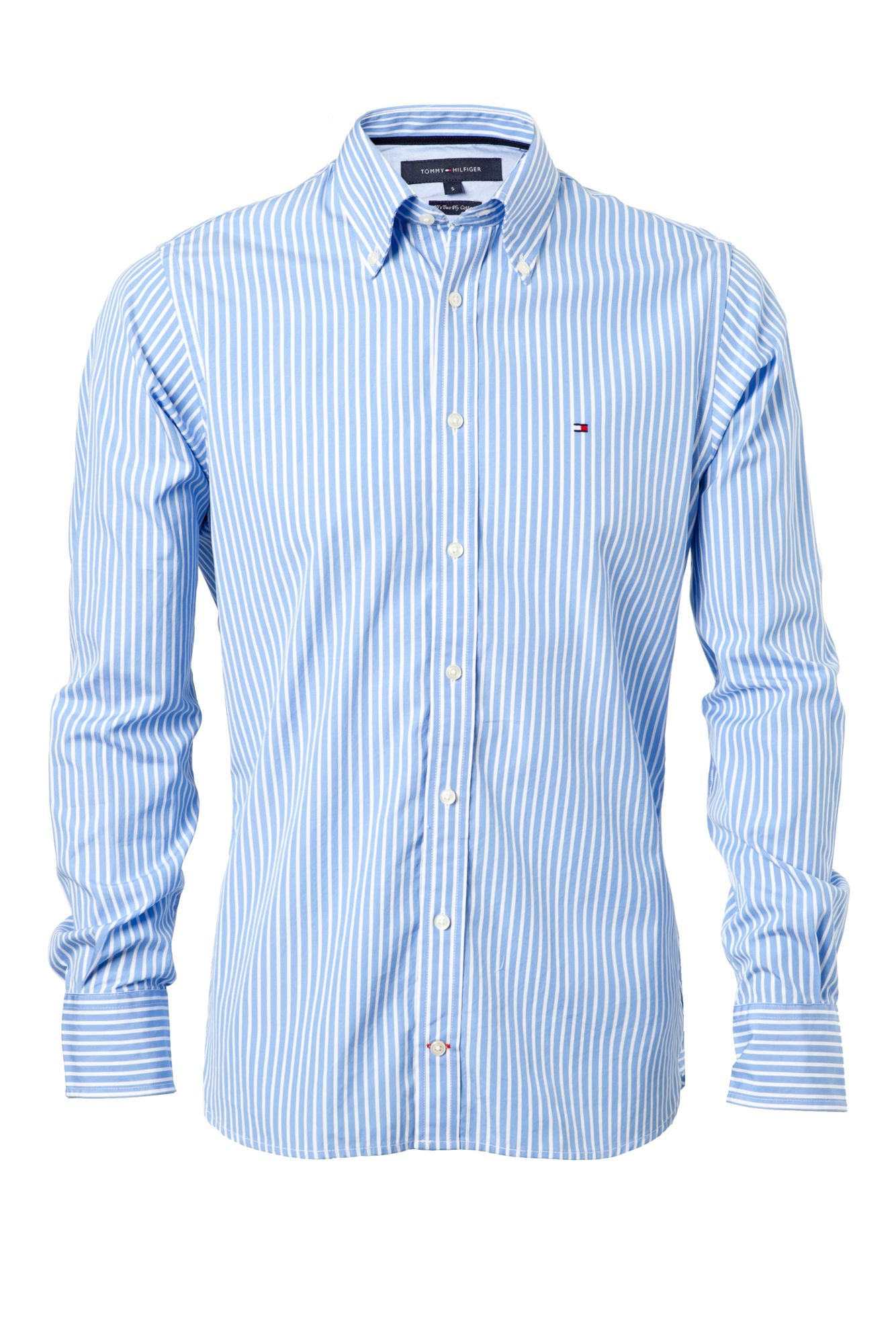 Tommy hilfiger new york stripe shirt in blue for men lyst for Tommy hilfiger fitzgerald striped shirt