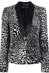 Versace Leopard Fitted Jacket - Lyst