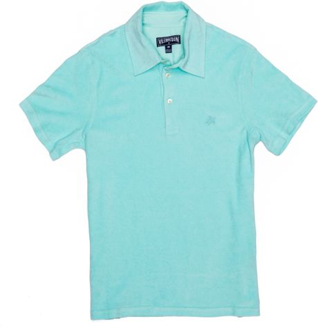 Vilebrequin terry cloth polo shirt in blue for men for Mens terry cloth polo shirt