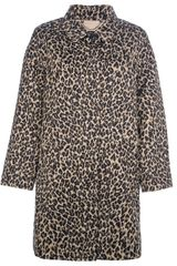 Weekend By Max Mara Lega Leopard Print Coat - Lyst