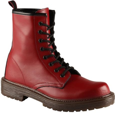 aldo castlebara lace up boots in burgundy lyst