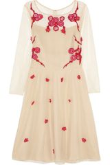 Alice By Temperley Cherry Blossom Appliquéd Cottontulle Dress - Lyst