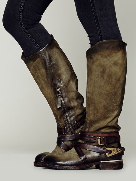 Free People Wakefield Tall Boot In Green Lyst