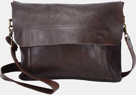 bed stu london leather messenger bag in brown for men dark brown lyst. Black Bedroom Furniture Sets. Home Design Ideas