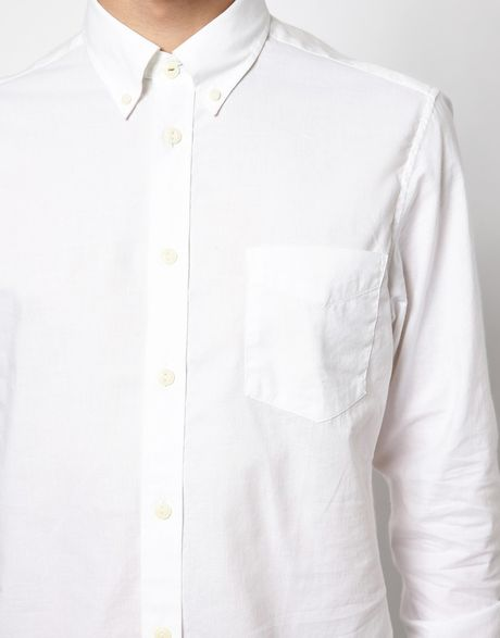 Ben Sherman Shirt Button Down Collar In White For Men Lyst