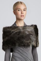 Donna Karan New York Shearling Tube Collar  - Lyst