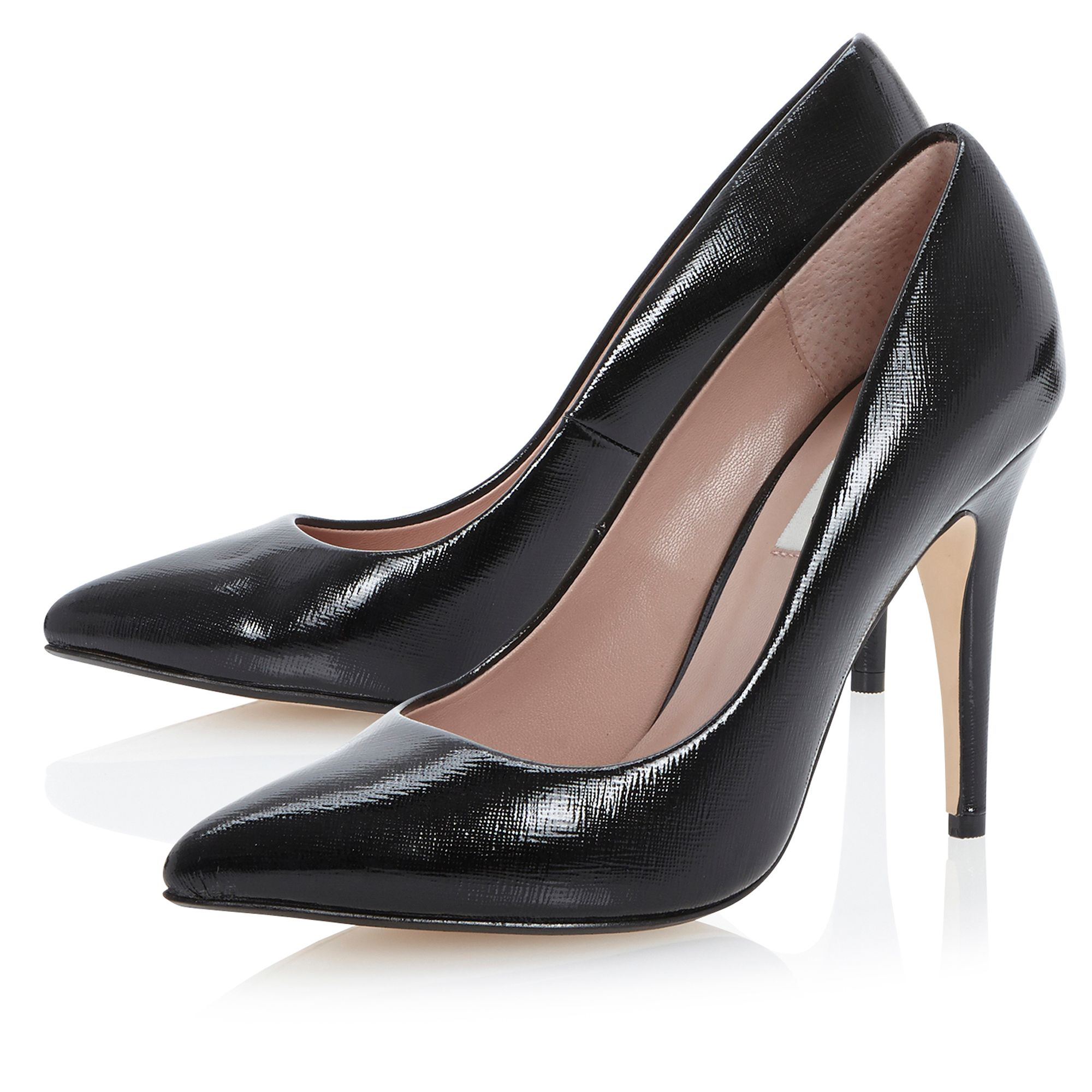 1257f9fbd17b Dune Abbigail Stiletto Heeled Court Shoes in Black (Black Reptile) | Lyst