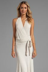 Ella Moss Gabi Stripe Maxi Dress in Beige - Lyst
