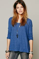 Free People Rockabilly Raglan Solid in Purple (Signature Blue) - Lyst