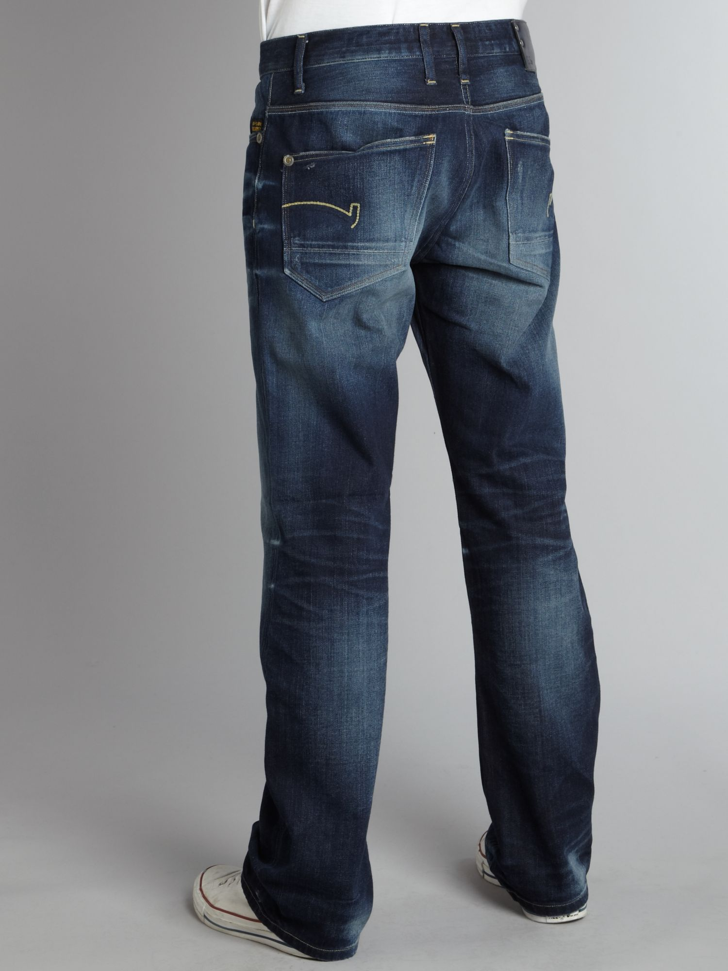 g star raw coder straight fit jeans in blue for men lyst. Black Bedroom Furniture Sets. Home Design Ideas