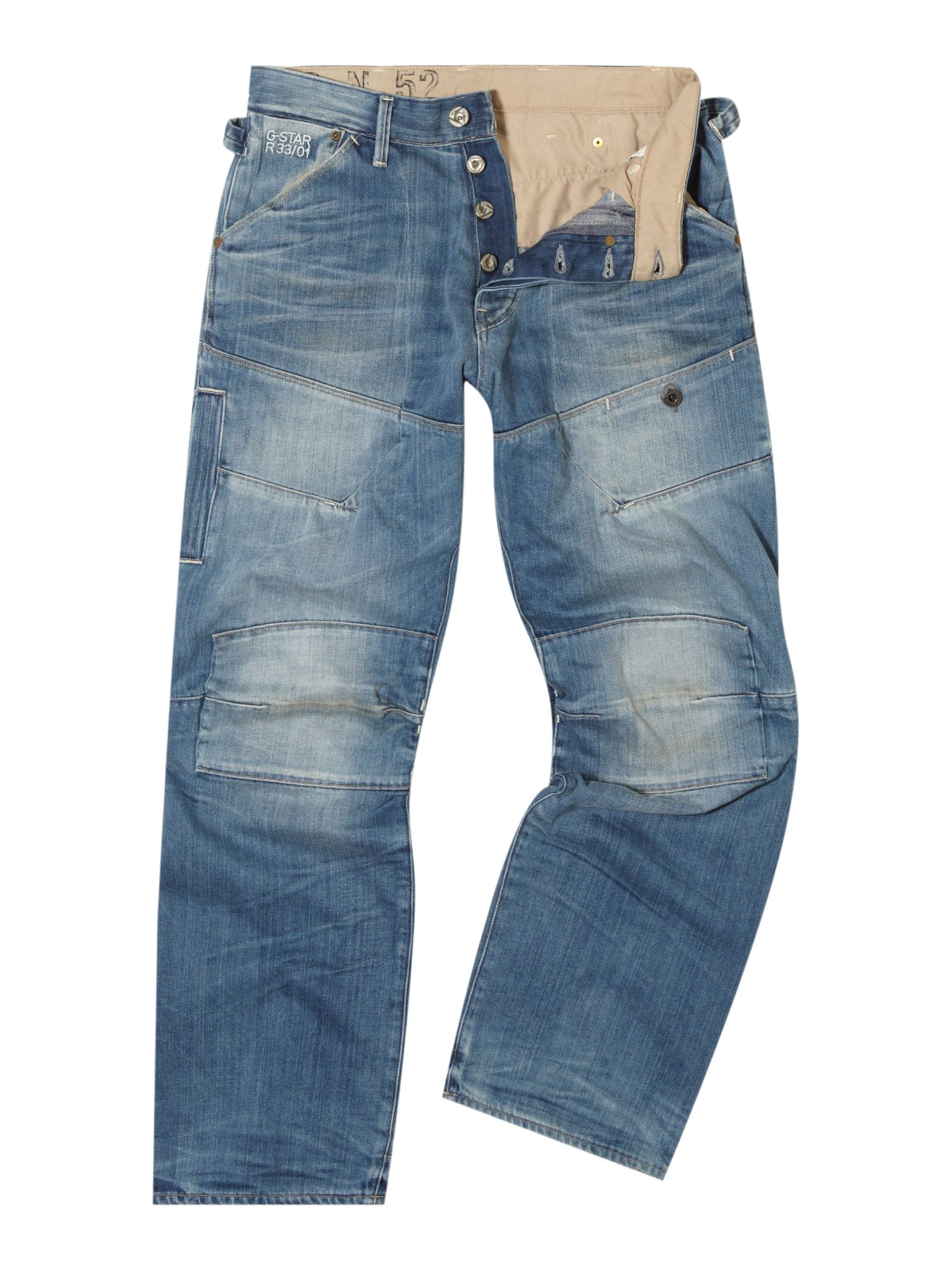 lyst g star raw elwood loose trail jeans in blue for men. Black Bedroom Furniture Sets. Home Design Ideas