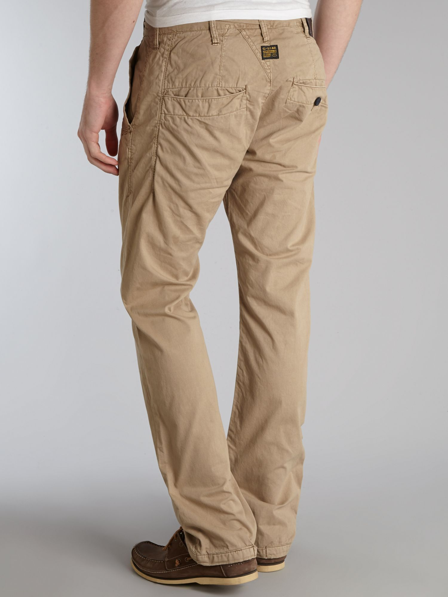 g star raw tapered chino in natural for men lyst. Black Bedroom Furniture Sets. Home Design Ideas