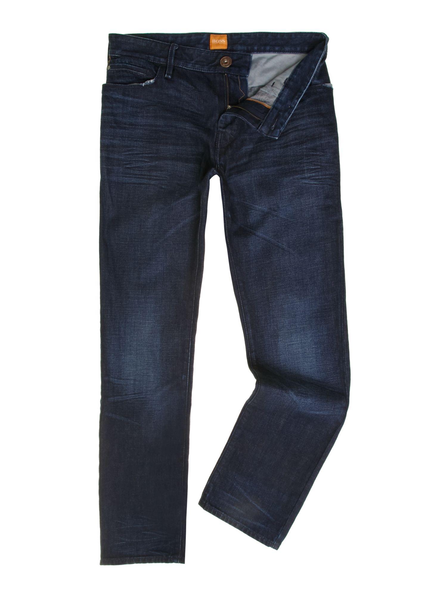 hugo boss orange 24 amsterdam jeans in blue for men denim. Black Bedroom Furniture Sets. Home Design Ideas
