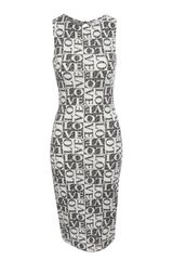 Jane Norman Love Print Midi Dress - Lyst