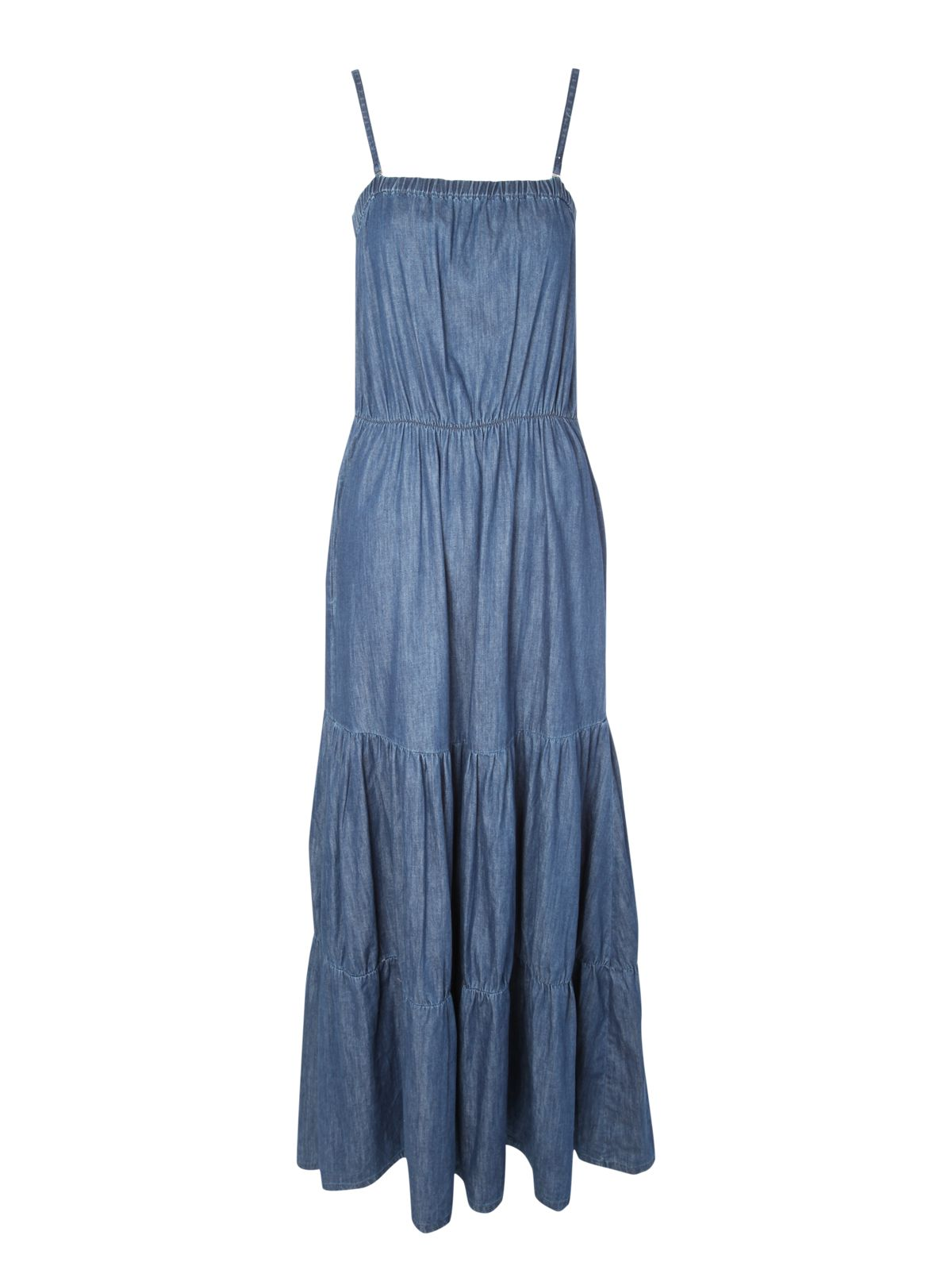 Light denim maxi dress