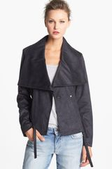 Kenneth Cole Studded Asymmetrical Faux Leather Jacket - Lyst