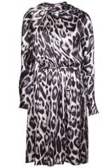 Lanvin Leopard Print Flared Dress - Lyst