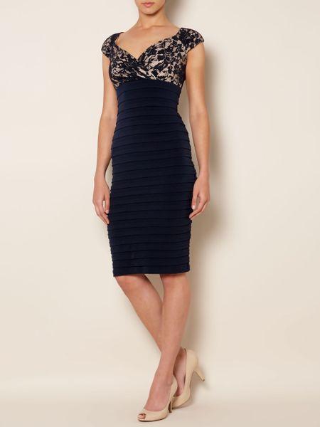 Linea Lace Shutter Dress In Blue Navy Lyst