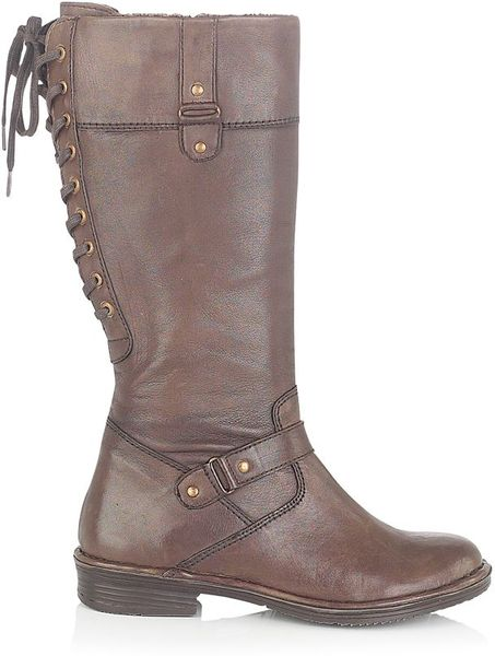 lotus lantana knee high boot in beige for brown lyst