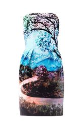 Mary Katrantzou Fawi Wandering River Strapless Dress - Lyst